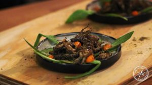 Deep fried crickets, dusted with native NSW spices.