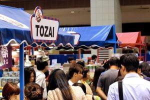 Crowds swirling around the atrium area of Takashimaya, affectionately known as 'Taka' in Singapore