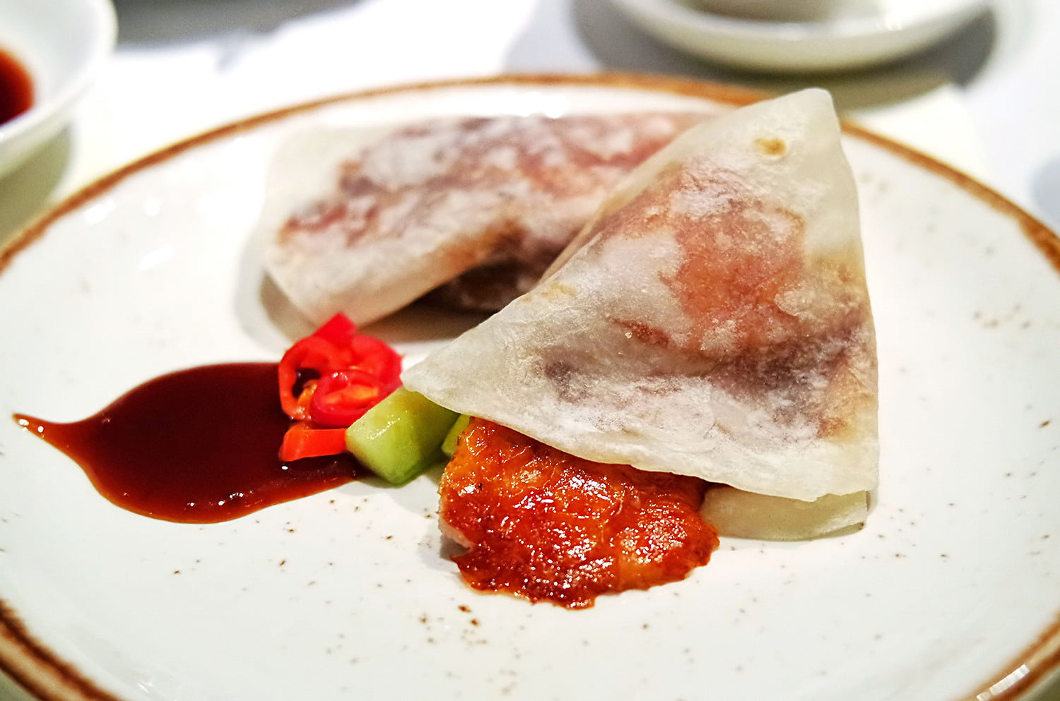 Flower Drum's famous Peking Duck Pancakes