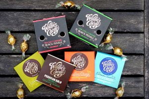 An assortment of chocolates from Willie's Cacao