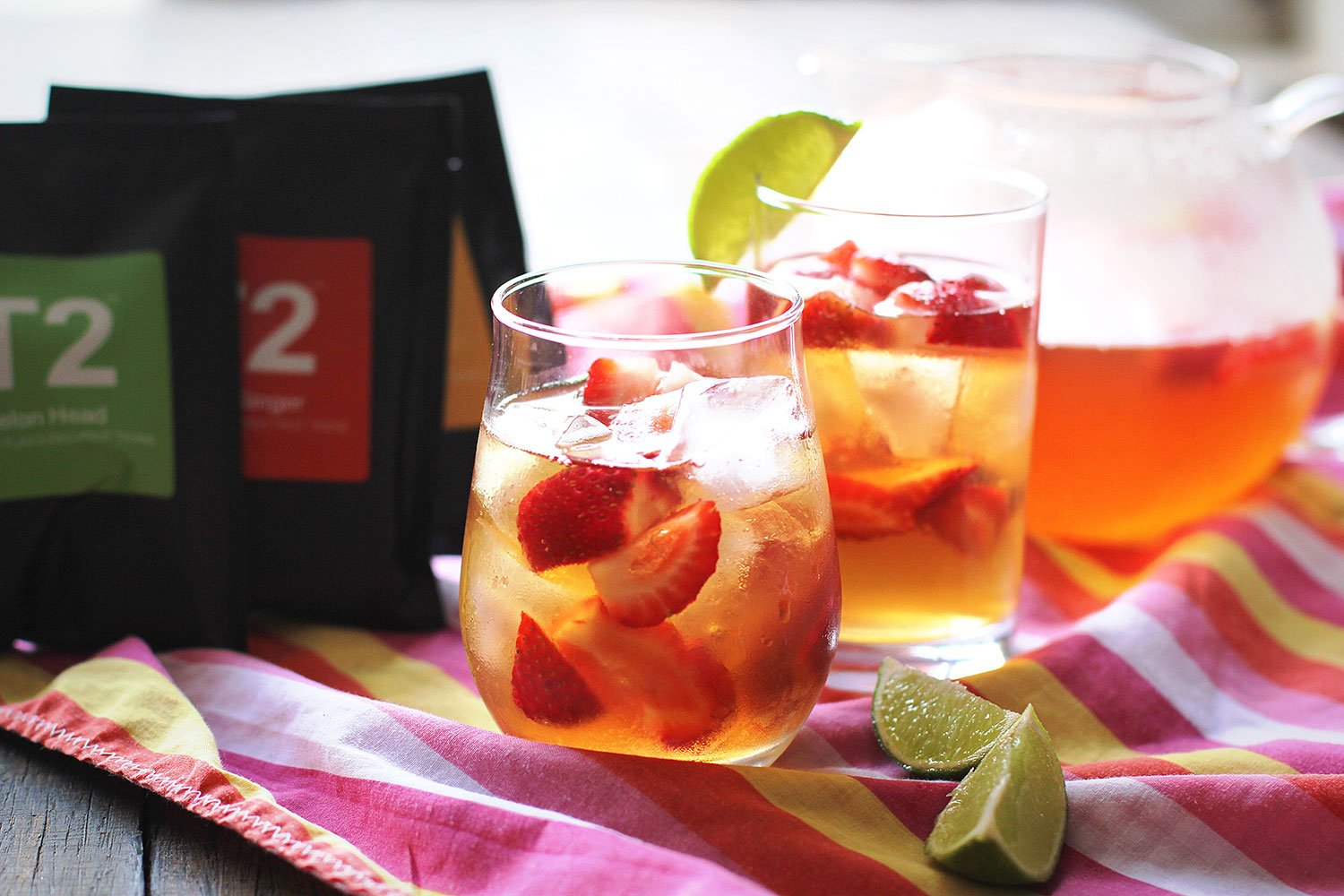 Peaches and Cream Iced Tea from T2 Teas