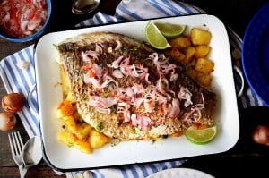 Laksa Roasted Fish with Coconut Lime Potatoes