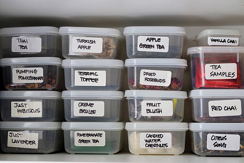 An organised tea cupboard
