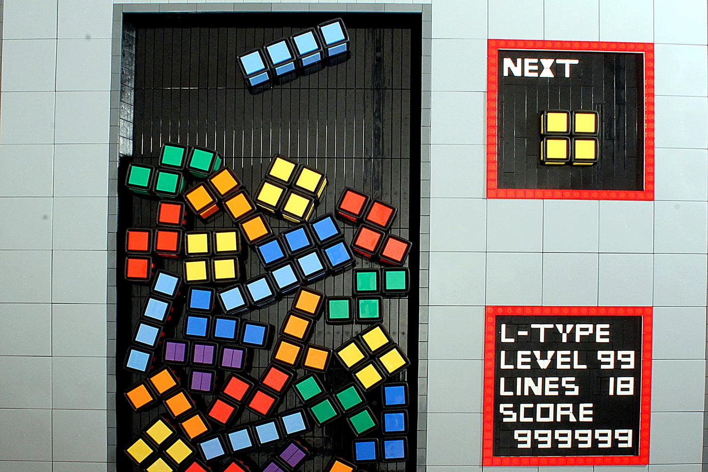 Bad Live Action Tetris Game