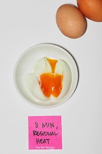 How to get a perfect boiled egg - 8 min, residual heat