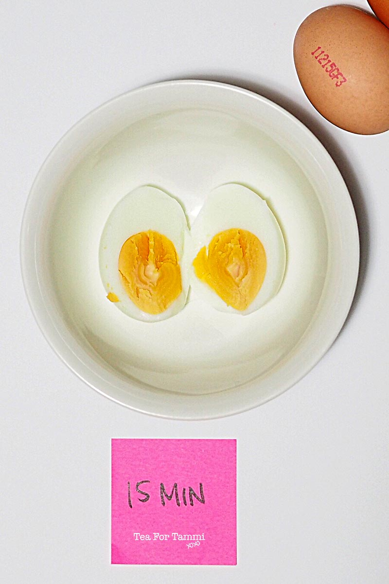 How to get perfectly boiled eggs - 15 min