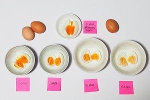 Perfect timings for boiled eggs!