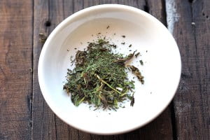 Food experiments: Dehydrating herbs in the microwave!