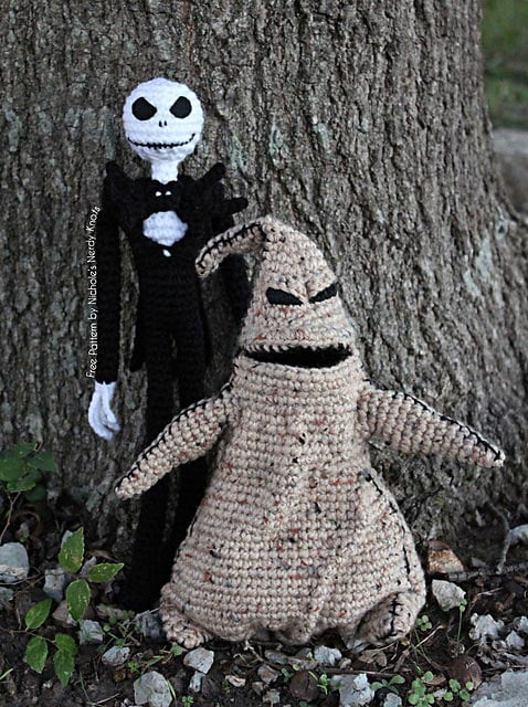 Crochet Jack Skellington : Jack Skellington and Boogie