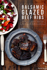 Sydney Lifestyle Blog Recipe for Balsamic Glazed Beef Ribs