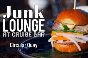 Sydney Food Blog Review of Junk Lounge at Cruise Bar, Circular Quay: Pork belly banh mi slider with pickled daikon, cucumber & shallots, $7