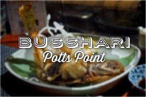 Sydney Food Blog Review of Busshari, Potts Point