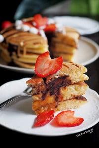 Stuffed Pancake Recipe. Lazy way to make a cake!