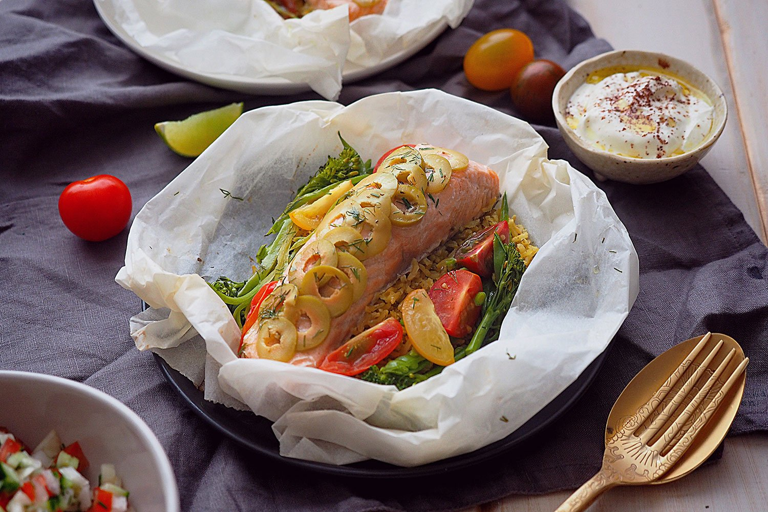 Fish En Papillote with Persian Flavours